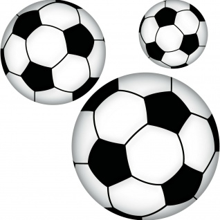 Set Aufkleber 10cm 15cm 20cm Fußball Sticker Ball Sport EM WM Deko Tür Heck Auto