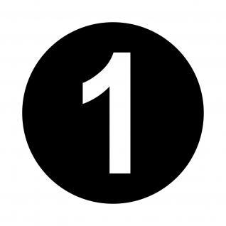 4 Startnummer Kreis 15cm Ziffer 12cm Set Aufkleber Deko Folie Auto Kart Motorrad