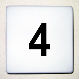 1 Stück 10cm schwarz Wunschziffer Aufkleber Tattoo Hausnummer Zahl Nummer Ziffer - Vorschau 1