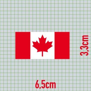 3 Aufkleber 6, 5cm Sticker Kanada CAN canadian Fußball Deko EM WM Flagge Fahne - Vorschau 2