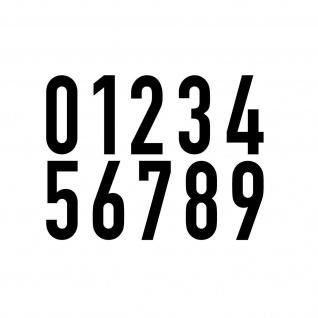 10 Aufkleber 10cm schwarz DIN1451 Ziffer Zahl Nr Haus Tür Nummer Verkehrsschrift