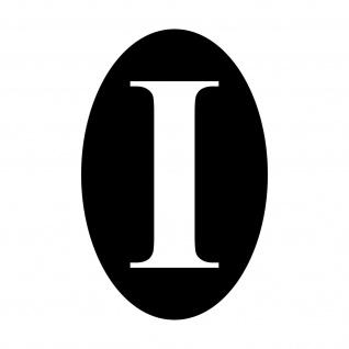 I Italien Aufkleber Tattoo 10cm schwarz Deko Folie Oldtimer Länderkennzeichen