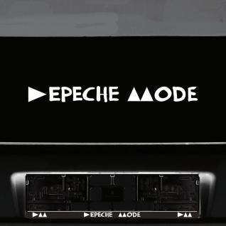 Aufkleber Tattoo 45cm weiß Delta Schriftzug Auto Heck Deko Folie Depeche Mode