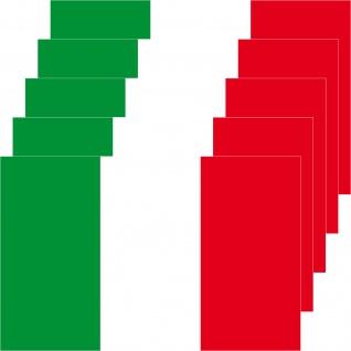 5 Aufkleber 8, 5cm Sticker Italien Italy Fußball EM WM National Flaggen Fahnen - Vorschau 3