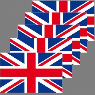 5 Aufkleber 6, 5cm Sticker ENG UK GB Fußball England EM WM National Flagge Fahne - Vorschau 2