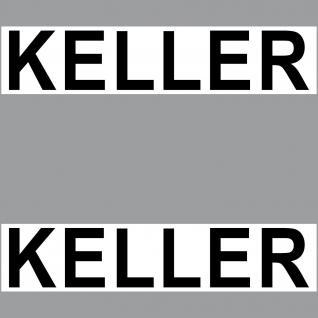 2 Aufkleber 20cm Keller Sticker Hinweis Schild Tür Tor Wand Regal Wegweiser