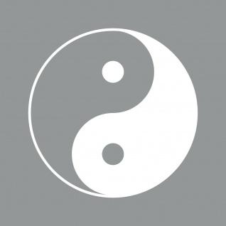 Aufkleber 30cm Yin & Yang weiß Tattoo Taiji Symbol Deko Auto Fenster Folie