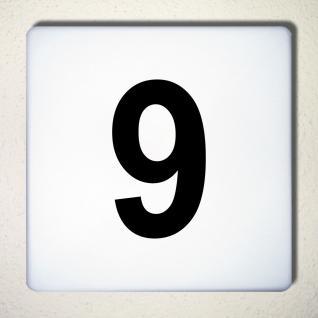 Ziffer 9 schwarz 12cm Aufkleber Tattoo Nummer Zahl Hausnummer Haus Tür Mülltonne