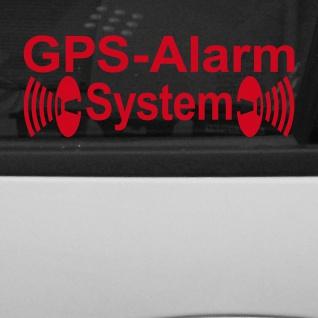2 Aufkleber Tattoo GPS Alarm System rot Fenster Scheibe Folie invers gespiegelt