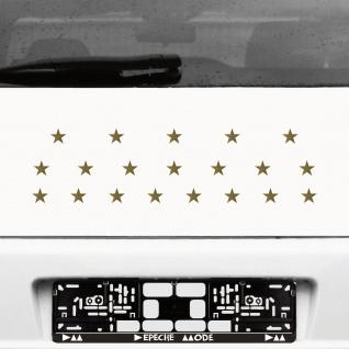 20 Aufkleber Tattoo Sterne 2, 5cm gold Klebesterne Auto Fenster Tür Deko Folie