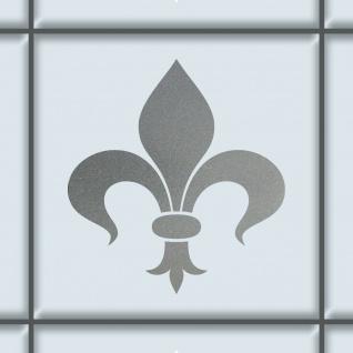 Florenz Lilie 8cm silber Aufkleber Tattoo Fliesen Spiegel Glas Tür Auto Folie