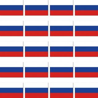 20 Aufkleber 2cm Russland RU RUS Länder Fahne Flagge RC Modellbau Mini Sticker