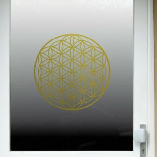 Aufkleber Tattoo 40cm gold Auto Tür Fenster Folie Blume des Lebens Lebensblume - Vorschau 5