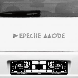 Aufkleber Tattoo 45cm silber Schriftzug Delta Auto Heck Deko Folie Depeche Mode