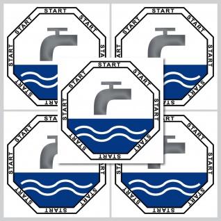 Aufkleber 5cm Sticker Start Taste WC Bad 00 Toilette Wasser Spülung Spülkasten - Vorschau 2