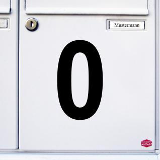 Ziffer 0 schwarz 12cm Aufkleber Tattoo Nummer Zahl Hausnummer Haus Tür Mülltonne - Vorschau 3