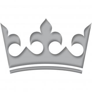 12cm blau Krone König Aufkleber Tattoo Kinder Zimmer Auto Heck Fenster Tür Möbel