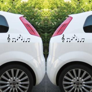 2 Sets Violinschlüssel 10cm + Noten schwarz Auto Fenster Aufkleber Tattoo Folie