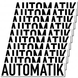 10 Aufkleber Automatik 20cm Sticker Hinweis Auto Pkw Kfz Verkauf Händler Handel