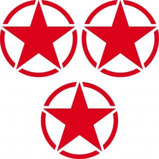 3 Aufkleber 7cm rot USA US Sterne Auto Jeep Pkw Tattoo Deko Folie Autoaufkleber