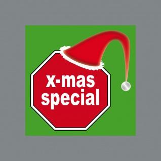 Aufkleber Sticker 5cm x mas special Deko für Geschenk Verpackung Umschlag etc.