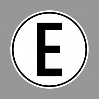 Aufkleber E Sticker 10cm rund UV Hinweis auf Elektromotor Motorsport Racing Auto