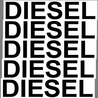 Aufkleber Diesel 20cm Sticker DIN1451 Verkehrsschrift Hinweis Auto Tank Kanister