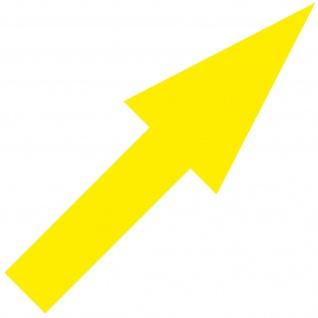 Aufkleber Pfeil 30cm gelb schmal Tattoo Auto Tür Tor Weg Hinweis Lauf Richtung