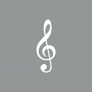 5cm weiß Aufkleber Tattoo Violinschlüssel Notenschlüssel Auto Fenster Tür Folie