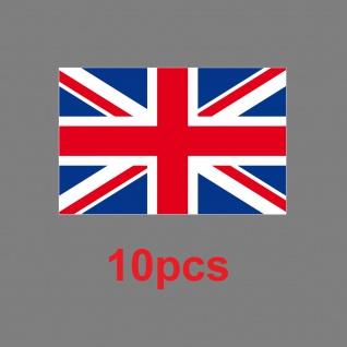 10 Aufkleber 6, 5cm Sticker England UK ENG GB Fußball Fan Deko EM WM Flagge Fahne - Vorschau 2