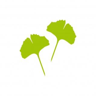1 Paar 2 Blätter 10cm grün voll Ginkgo Blatt Aufkleber Tattoo Ginko Gingko Folie - Vorschau 1