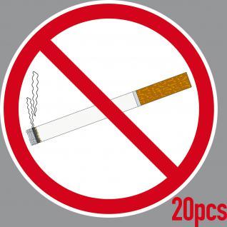 20 Aufkleber 15cm Sticker Rauchverbot Rauchen Verboten Nichtraucher Warn Hinweis