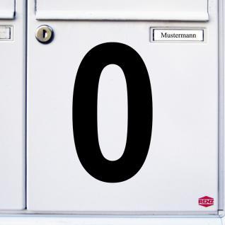 Ziffer 0 schwarz 15cm Aufkleber Tattoo Nummer Zahl Hausnummer Haus Tür Mülltonne - Vorschau 3