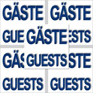 5 Aufkleber 5cm Sticker Gäste Guests Hinweis Fliesen Handtuch WC Handtuchhalter
