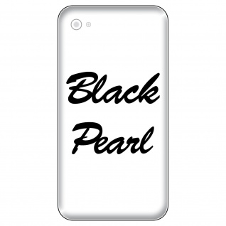 2 Aufkleber 6cm glanz schwarz Black Pearl Handy smartphone iPhone Tattoo Folie