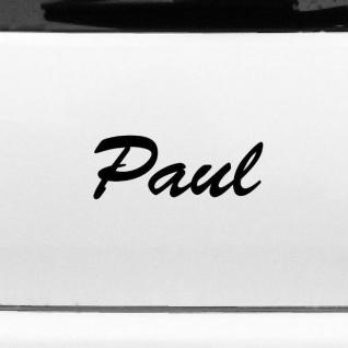 Paul 20cm Kinderzimmer Name Aufkleber Tattoo Deko Folie Auto Tür Fenster Schrank