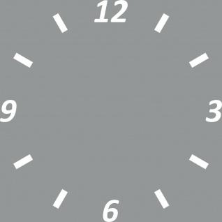 Uhr Zifferblatt komplett am Stück d = 25cm weiß Aufkleber Tattoo Deko Folie