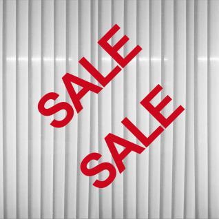 2 Schaufenster Fenster Hinweis Verkauf SALE % Rabatt Aufkleber decal Deko Folie