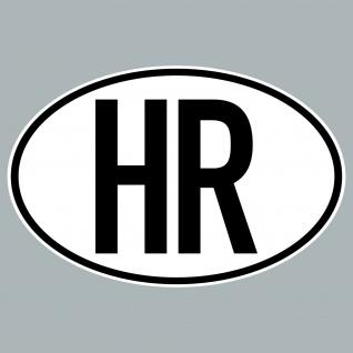 HR Aufkleber Sticker Kroatien Länderkennung Länderkennzeichen 4061963019917