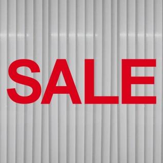 SALE 150cm rot Aufkleber Tattoo Schriftzug Schaufenster Verkauf Deko Klebefolie - Vorschau 2