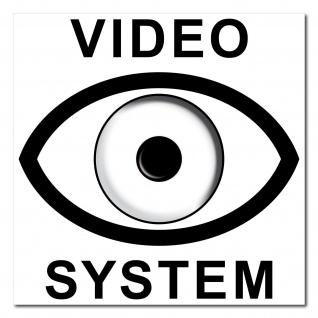 Video System Auge 7cm Aufkleber Sticker cctv Kamera Überwachung Alarm Hinweis