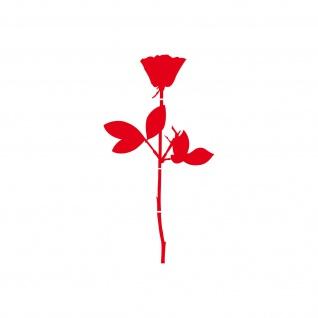 Rose 10cm rot Auto Tür Fenster Möbel Deko Folie Depeche Mode Aufkleber Tattoo