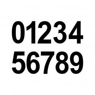 20 Ziffern Aufkleber 4cm schwarz Tattoo Ziffer Zahl Hausnummer Zimmer Nummer - Vorschau
