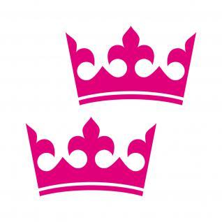 2 Kronen 12cm pink Königin Krone Aufkleber Tattoo Auto Möbel die cut Deko Folie