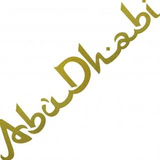 Schriftzug Abu Dhabi 100cm gold Auto Tür Fenster Aufkleber Tattoo Deko Folie
