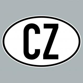 CZ Aufkleber Auto Sticker CZE Tschechische Rep Länderkennzeichen 4061963019894