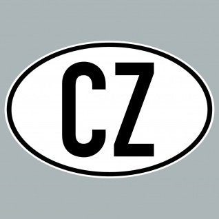 CZ Aufkleber Sticker Tschechien Länderkennung Länderkennzeichen 4061963019894