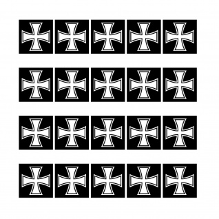 20 Aufkleber 1cm Eiserne Kreuz EK Großkreuz Symbol Mini Sticker RC Modellbau