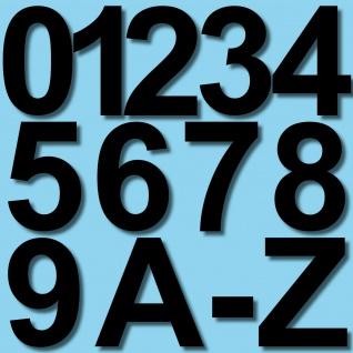 6cm schwarz Aufkleber Hausnummer Wunsch Wahl Nummer Zahl Ziffer Buchstabe ABC