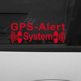 Aufkleber Tattoo GPS Alarm System rot Auto Schaufenster Außen getönte Scheibe